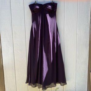 Bill Levkoff plum purple bridesmaids dress